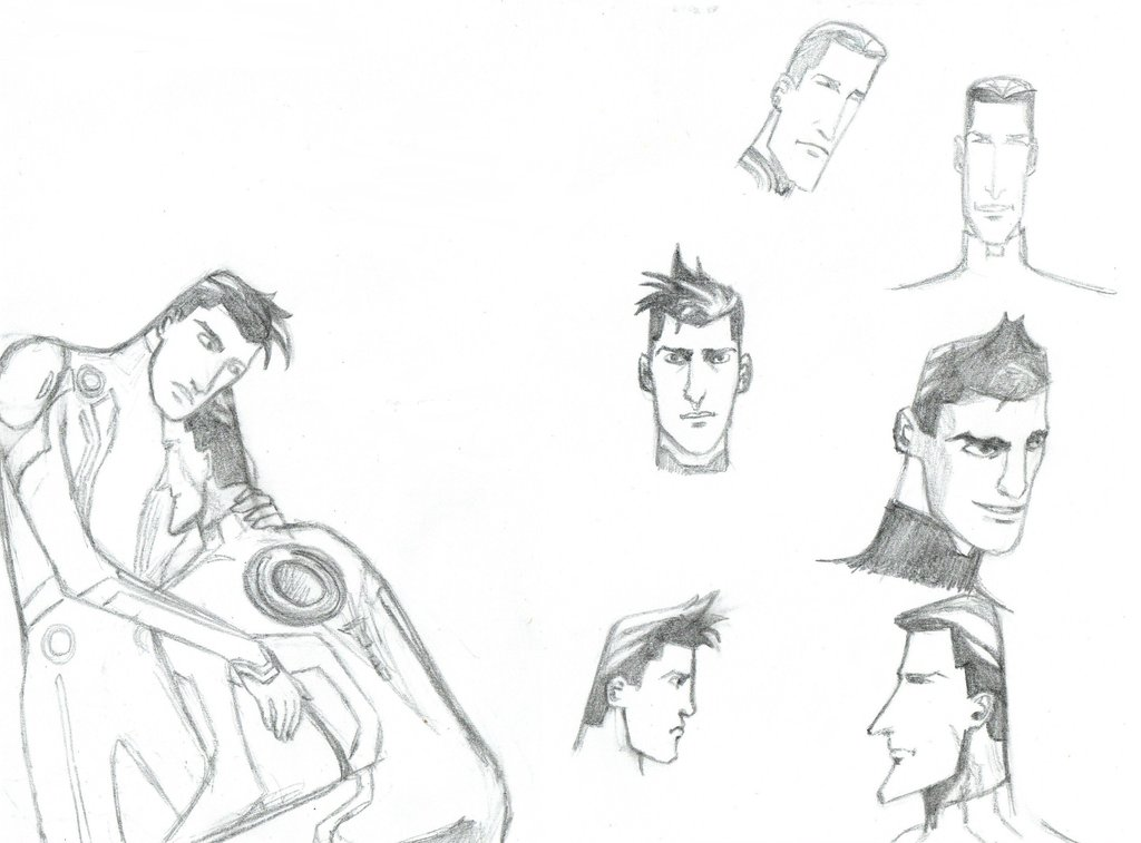 1024x757 Tron Uprising Sketch Dump By Flying With Dragons