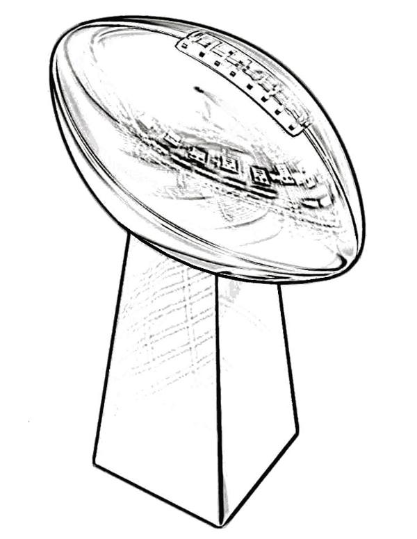 600x776 Trophy Super Bowl Coloring Page Kids Pages Pinterest