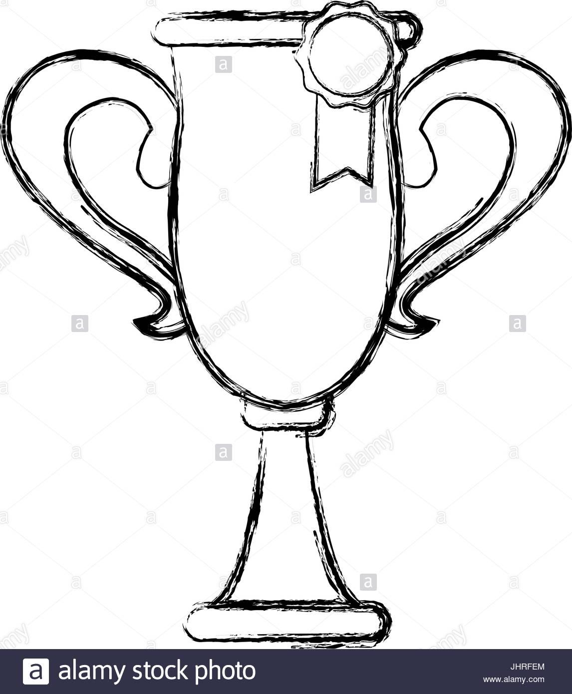 1146x1390 Trophy Rosette Award Success Honor Icon Stock Vector Art