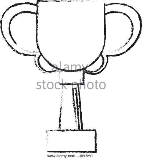 482x540 Drawing Winner Cup Trophy Prize Stock Photos Amp Drawing Winner Cup