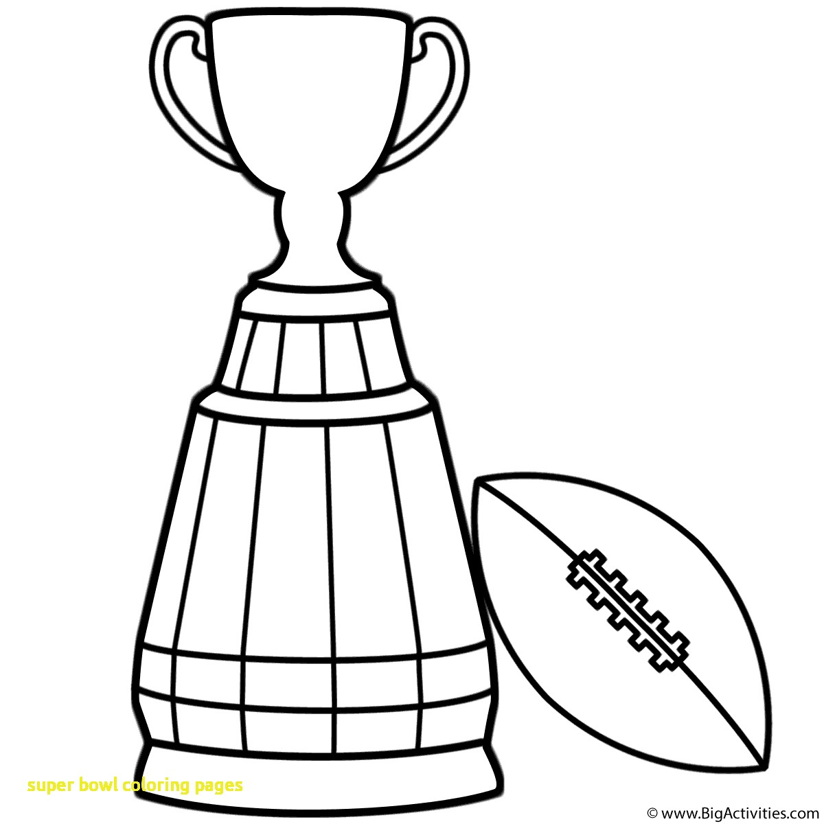 1200x1200 Super Bowl Coloring Pages With Trophy Football