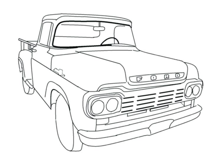 736x561 Old Truck Coloring Pages Ford Coloring Pages Ford Trucks Coloring