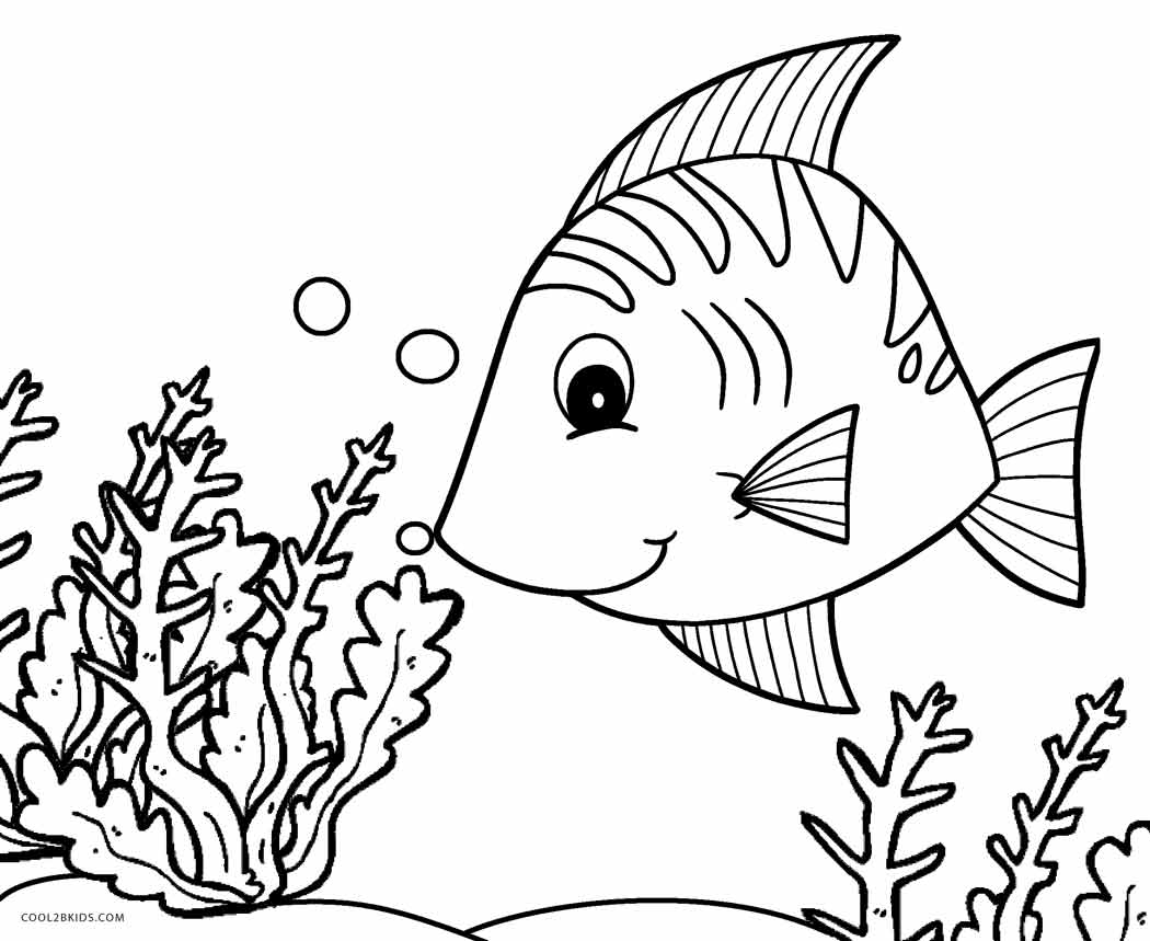 1050x859 Free Printable Fish Coloring Pages For Kids Cool2bkids
