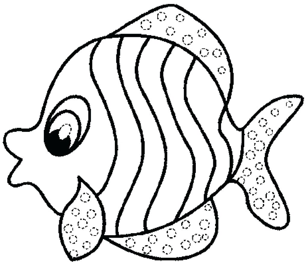 1024x882 Coloring Tropical Fish Coloring Pages Printable For Kids Pictures