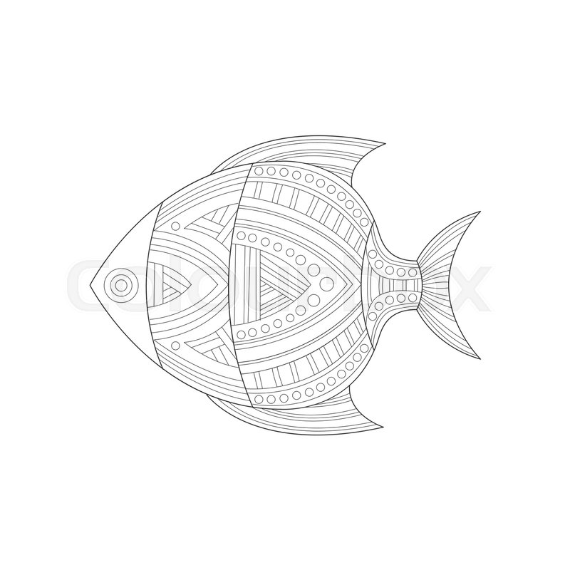 800x800 Cool Tropical Fish Sea Underwater Nature Adult Black And White