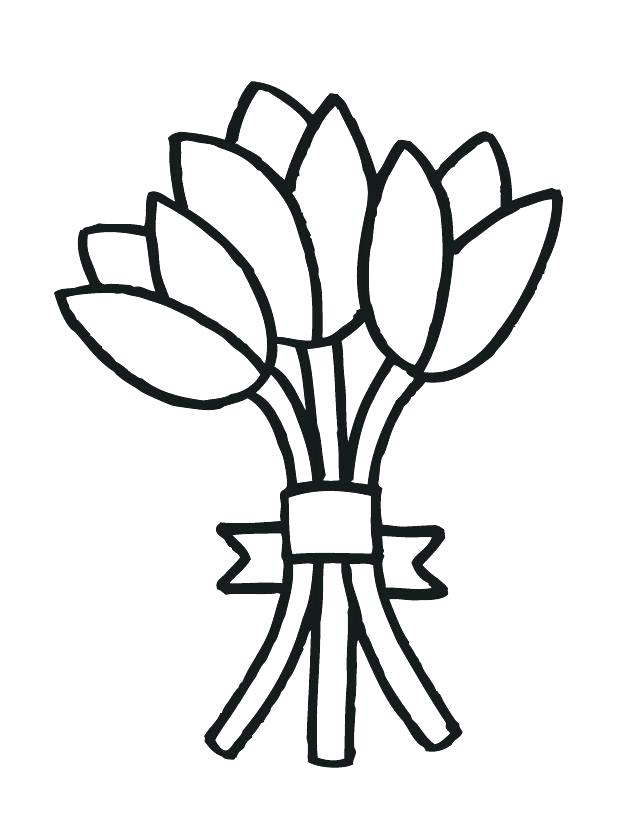 640x828 Good Flower Coloring Pages Printable For Bouquet Of Flowers