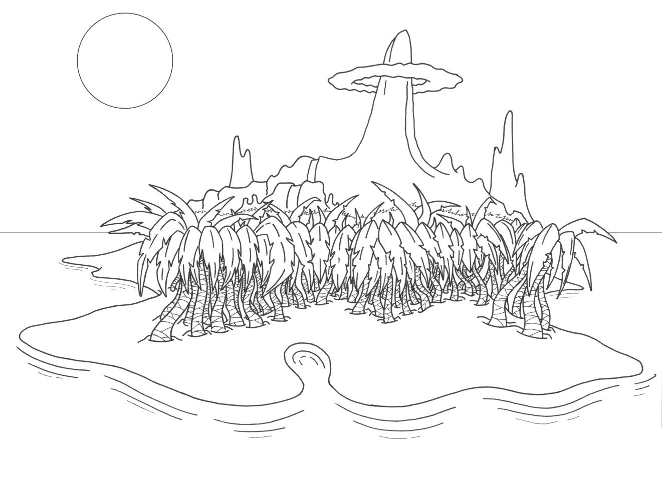 1321x981 Tropical Island By Makosoldier7
