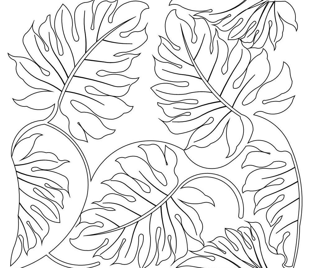 1000x864 Rainforest Plants And Flowers Coloring Pages Free Printable Adult