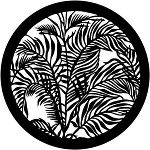 300x300 Tropical Leaves Rosco Gobo 79109