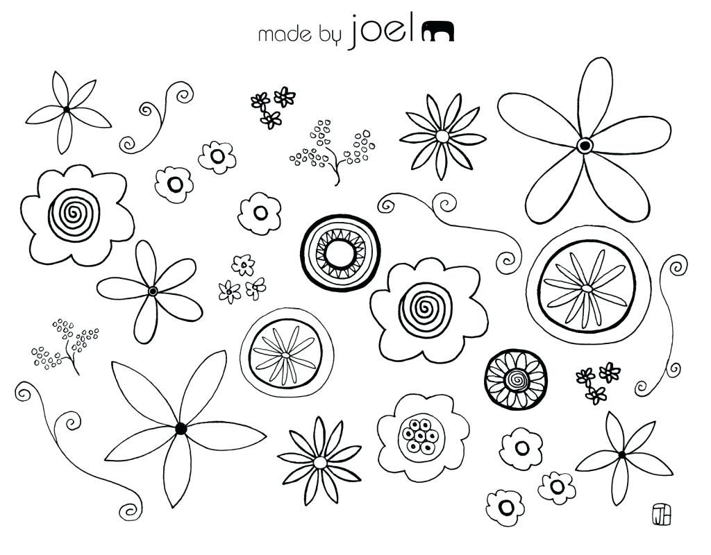 1024x800 Coloring Pages ~ Flower Coloring Pages Printable Lotus With Leaf