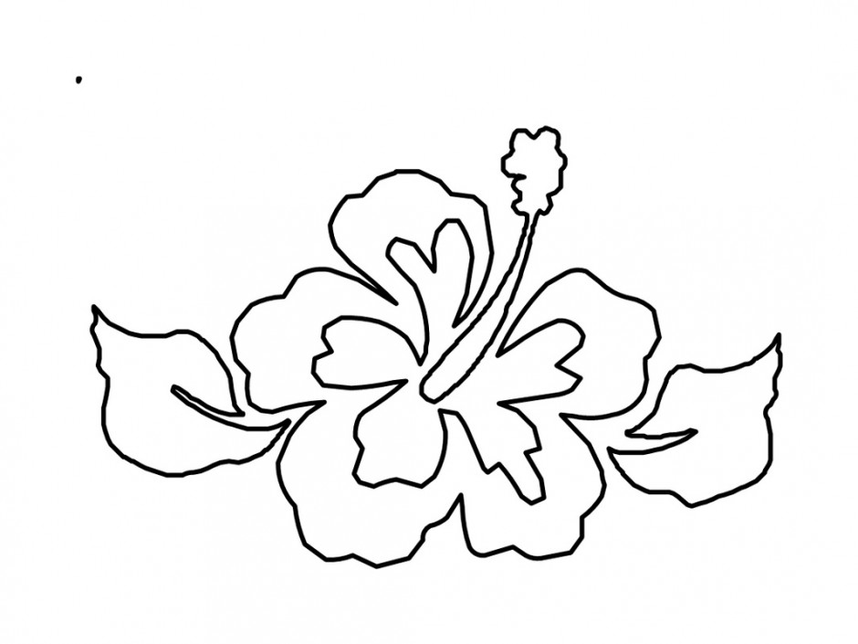 940x705 Hawaiian Leaves Coloring Sheets Blank Hawaiian Coloring Sheets