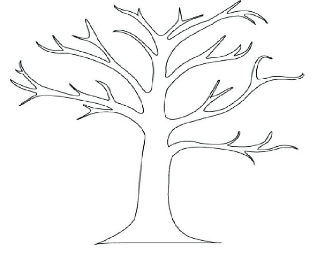618x503 Leaves Coloring Pages Leaf Template Download In Palm Printable