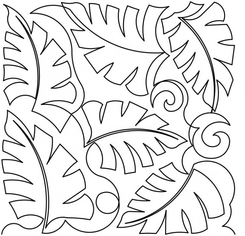 800x772 Tropical Leaves 2 E2e By Designs By Deb Geissler