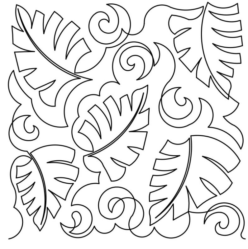 796x800 Tropical Leaves 3 E2e By Designs By Deb Geissler