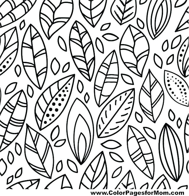 640x662 Autumn Coloring Pages For Kids Free Best Paint Night Images