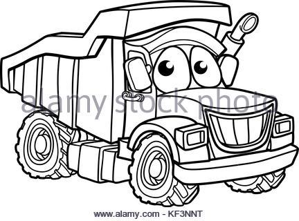 432x320 Cartoon Cargo Semi Truck Stock Photo 66260016