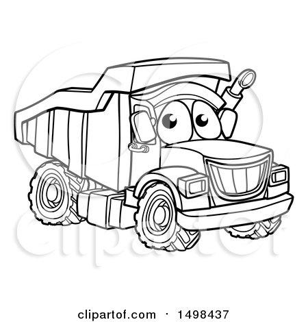 450x470 Clipart Of A Cartoon Dump Truck