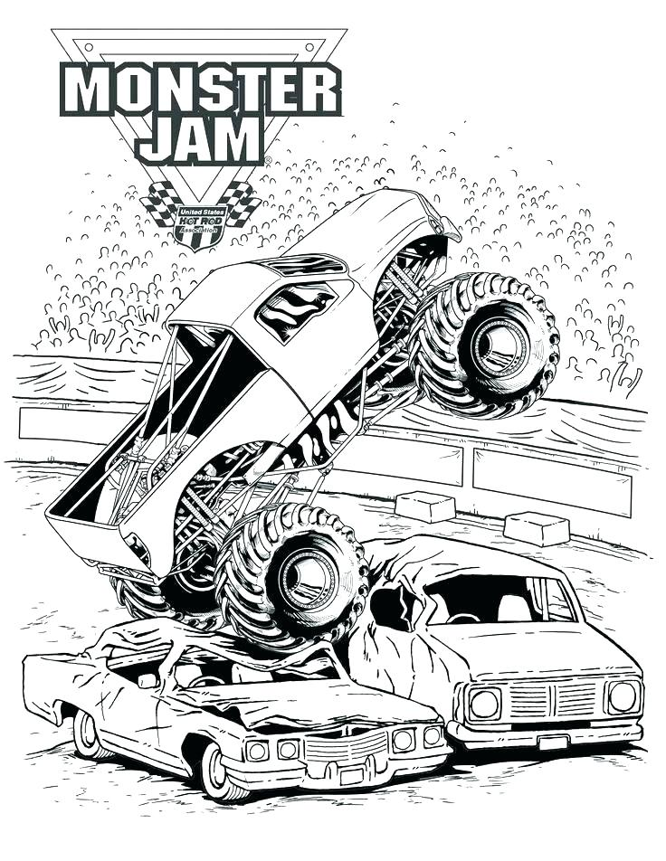 736x952 Monster Truck Free Coloring Pages Plus Monster Truck Coloring