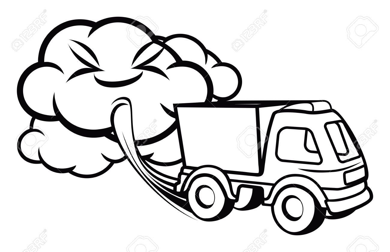 1300x842 Truck Exhaust Royalty Free Cliparts, Vectors, And Stock