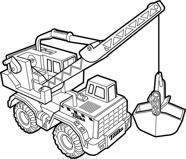 600x514 Crane Coloring Pages Printable For Pretty Draw Paint Truck Page