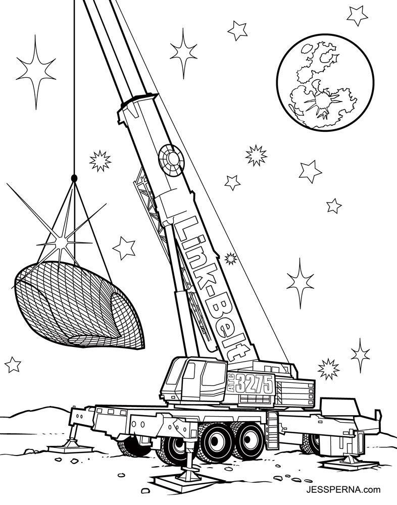786x1000 Crane Truck Drawing.doodle Sketch Crane Vector. Doodle Sketch