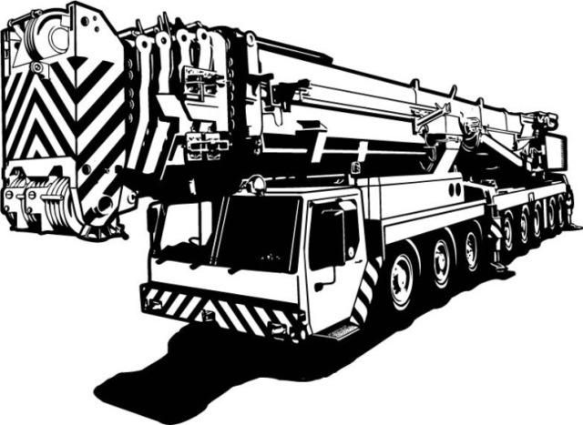 640x467 Crane Wall Sticker Hoisting Machine Truck Engines Mural Wall