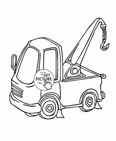 236x287 Cute Cartoon Tractor Coloring Page For Kids, Transportation