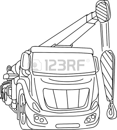 405x450 Truck Mobile Crane Isolated On Background Royalty Free Cliparts