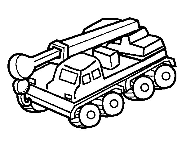 600x470 Truck Crane Coloring Page