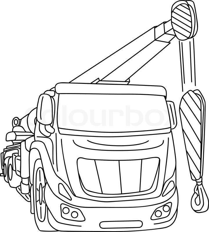 Truck Crane Drawing At Getdrawings Com