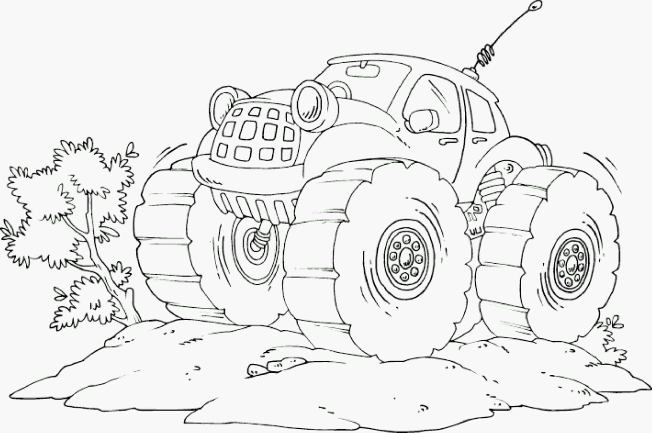 2551x1695 Drawing Monster Truck Coloring Pages With Kids