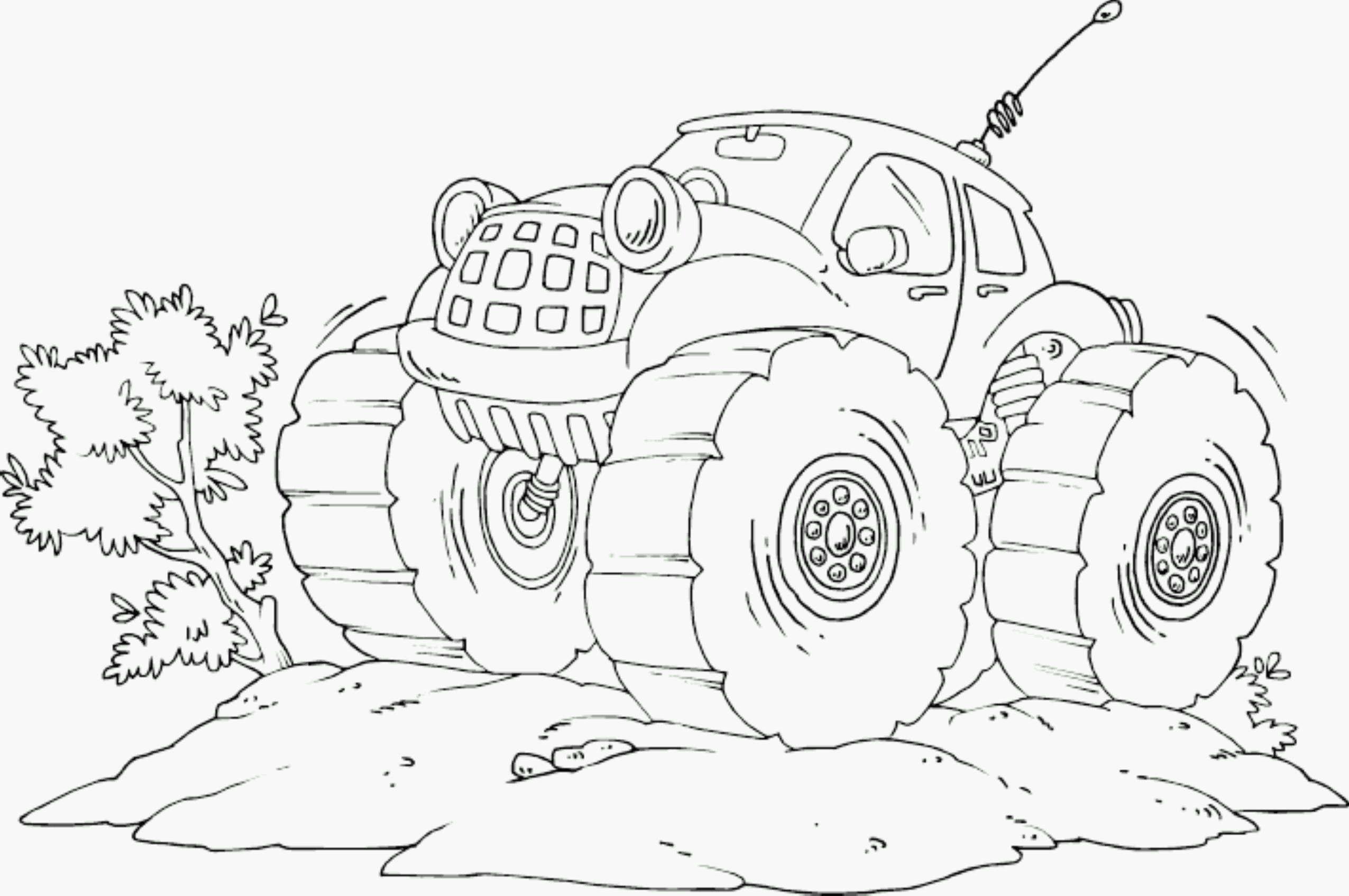 Neu Malvorlagen Monster Truck Gratis - Art von Malvorlagen