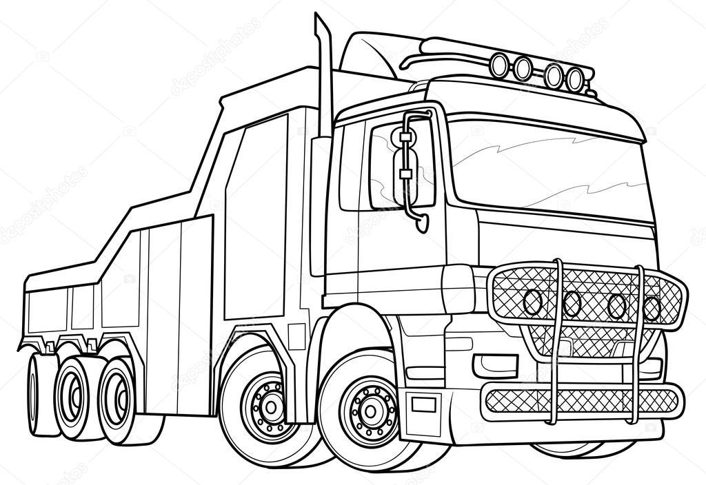 1024x704 Sketch Truck Stock Vector Kopirin