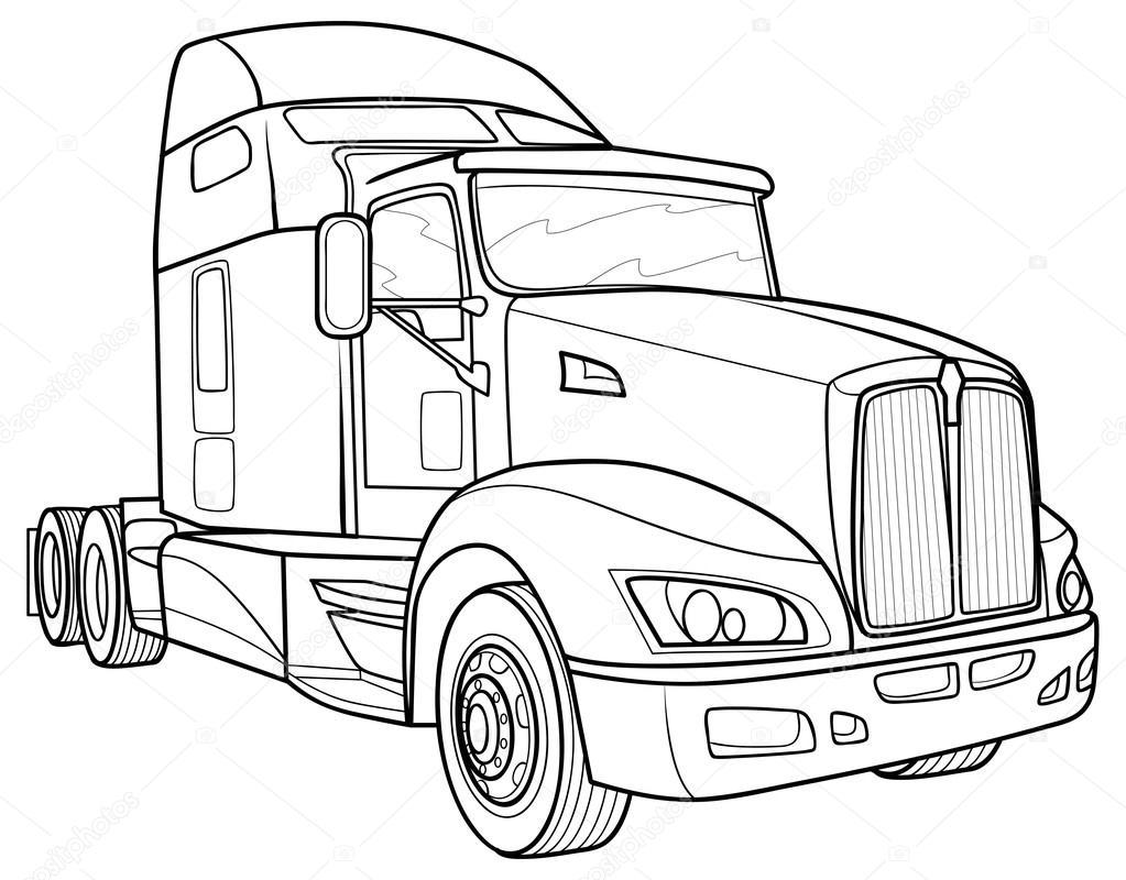 1023x800 Sketch Truck Stock Vector Kopirin