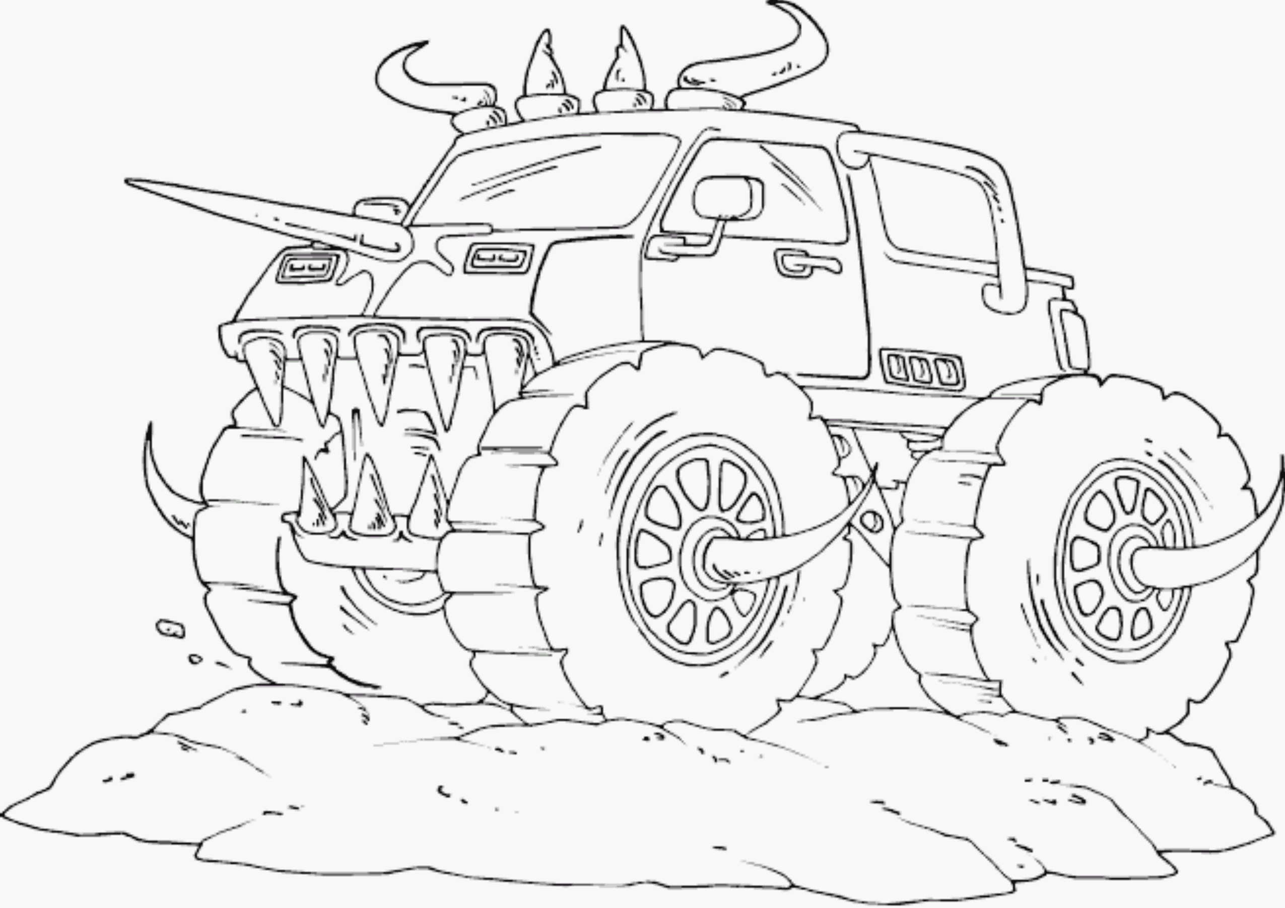 2551x1803 Coloring Pages Monster Truck Drawings Real Coloring Pages
