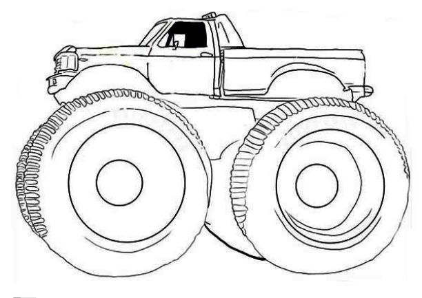 612x433 Drawing Monster Truck Coloring Pages With Kids