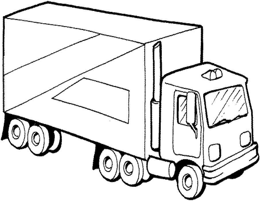 906x700 40 Free Printable Truck Coloring Pages Download