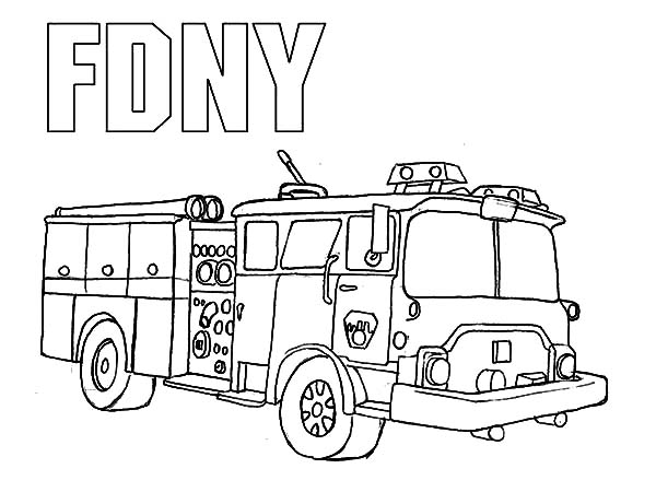 600x450 Fire Truck Coloring Pages For Kids Printable