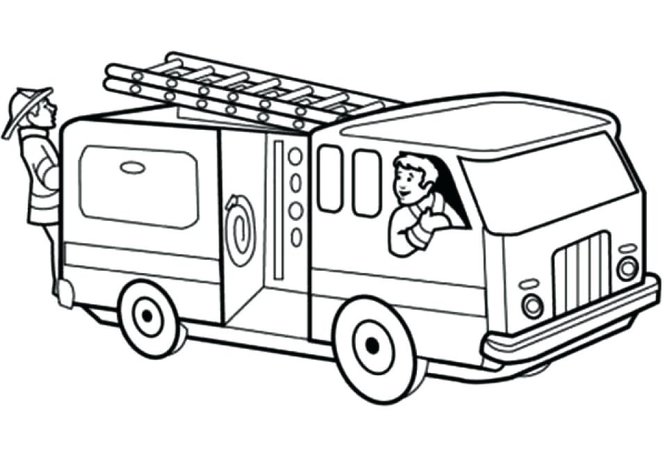 Captivating 960x652 Free Fire Truck Coloring Pages Printable Also Printable Fire Truck