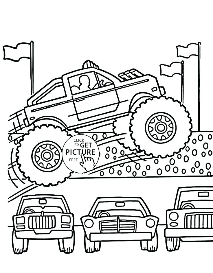 736x944 Monster Truck Coloring Book Together With Monster Truck Jumps Over