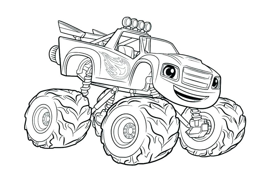 863x610 Monster Truck Coloring In And Free Printable Monster Truck