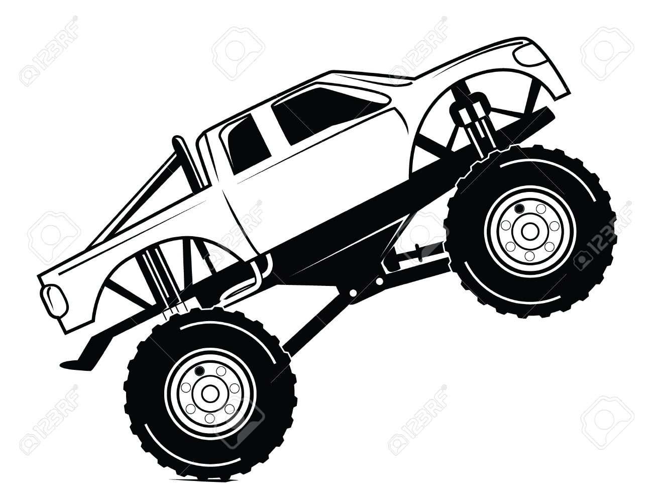 Line Drawing Monster : Truck line drawing at getdrawings free for personal use