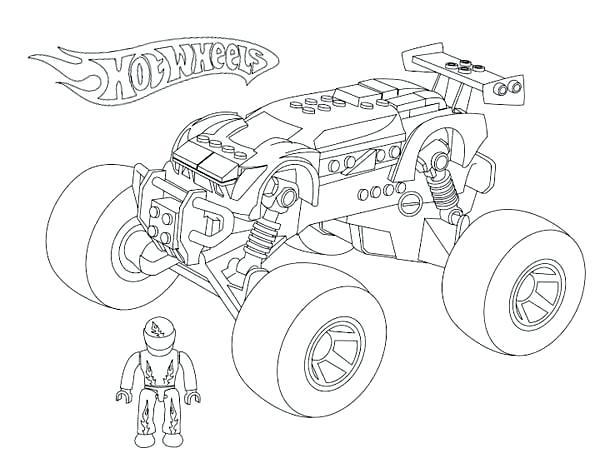 600x463 Monster Truck Coloring Games Online Also Monster Truck Hot Wheels
