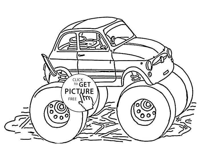 736x533 Truck Coloring Games Click To Print This Fire Engine Monster Truck