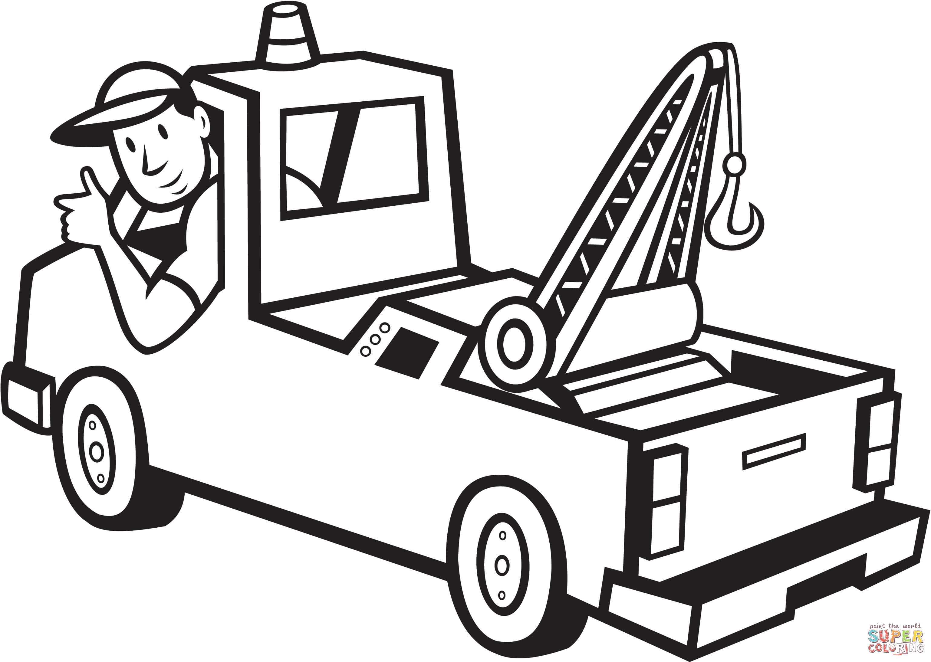 3076x2188 Truck Driver Coloring Page Free Printable Coloring Pages