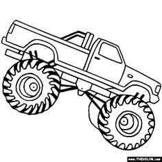 236x236 Creative Inspiration Monster Truck Outline Trucks Online Coloring