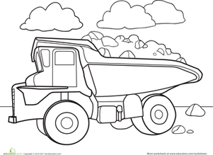 301x219 Finish The Truck Drawing Worksheet