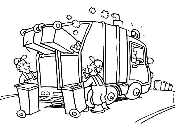 600x450 Garbage Truck Coloring Pages Drawing Garbage Truck Coloring Pages