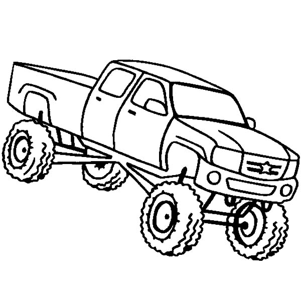 600x600 Monster Jam Truck Sketch Coloring Pages Color Luna
