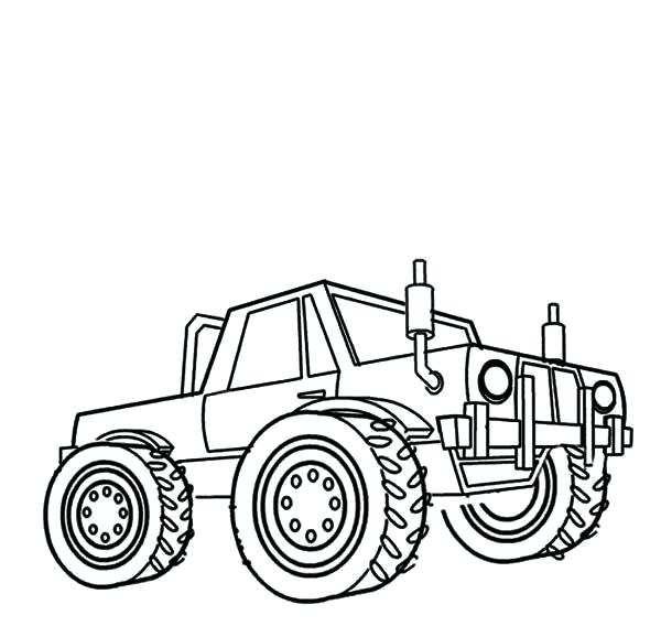 600x578 Monster Truck Coloring Pages For Kids Monster Jam Kids Drawing